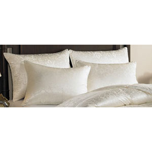 Eliasa Ecru Grade A Iceland Eiderdown Medium Standard Pillow
