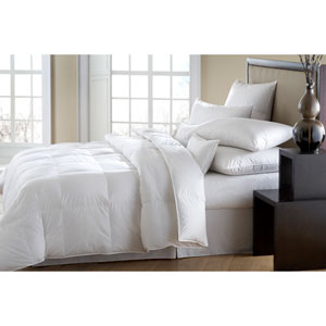 Mackenza White All-year 560+ Oversized Queen Down Comforter