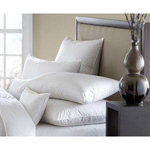 Mackenza White 560+ Medium Standard Down Pillow