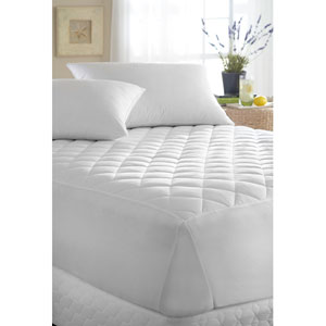 White 44 x 75 Luxorious Mattress Pad
