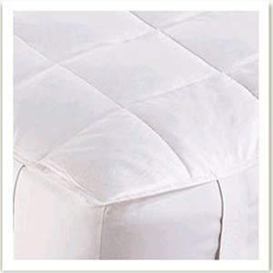 Twin White Goose Down Mattress Pad