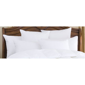 Nirvana White 700+ Polish Medium Standard Goose Down Pillow