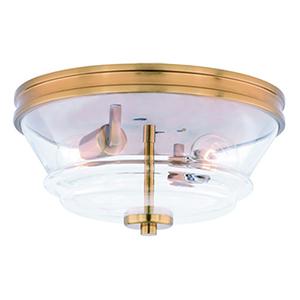 Toledo Natural Brass 13-Inch 2-Light Flush Mount