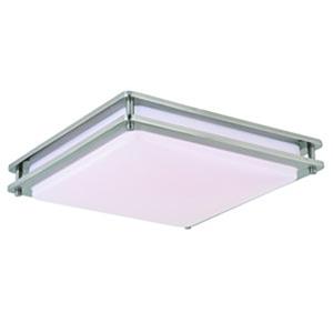 Horizon Satin Nickel 16-Inch LED Flush Mount