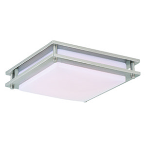 Horizon Satin Nickel 12-Inch LED Flush Mount