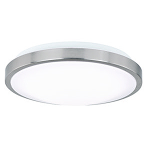 Aries Satin Nickel 12-Inch LED Flush Mount