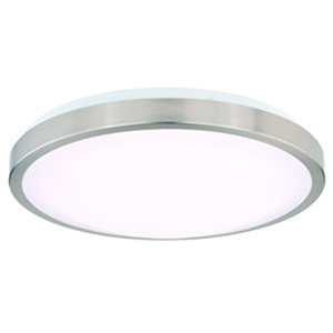 Aries Satin Nickel 14-Inch LED Flush Mount