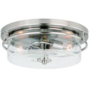 Addison Satin Nickel 15-Inch 2-Light Flush Mount