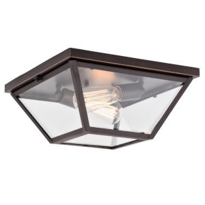 Grant Burnished Bronze Two-Light Flush Mount