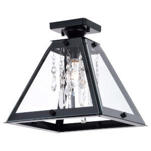 Tremont Matte Black One-Light Semi Flush Mount