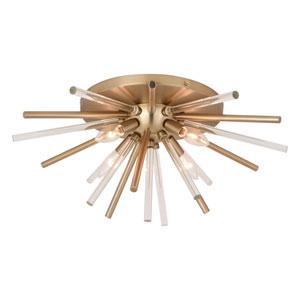 Aria Natural Brass Four-Light Flush Mount