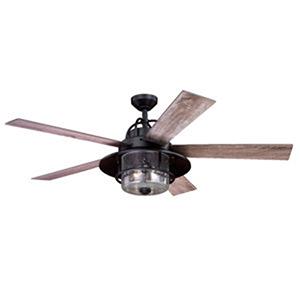 Charleston New Bronze 56-Inch 2-Light Ceiling Fan