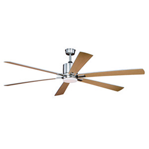 Wheelock Brushed Nickel 72-Inch LED Ceiling Fan