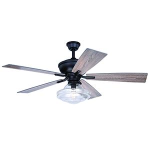 Huntley Bronze 52-Inch Ceiling Fan With Light Kit