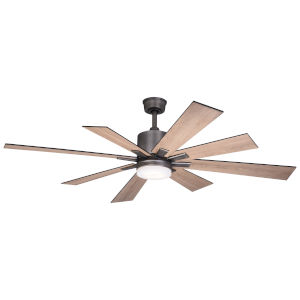 Crawford Dark Nickel 60-Inch Ceiling Fan with LED Light Kit