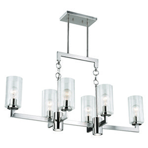 Addison Satin Nickel 37.5-Inch 8-Light Island Pendant