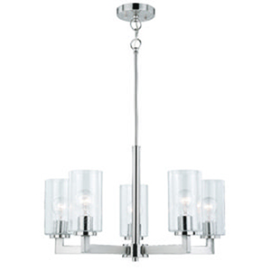 Addison Satin Nickel 24-Inch 5-Light Chandelier