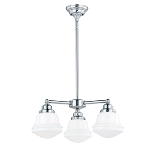 Huntley Satin Nickel Three-Light Chandelier