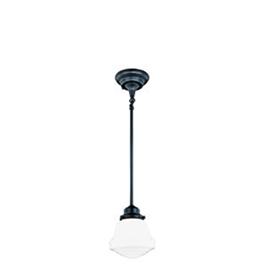 Huntley Oil Rubbed Bronze 6.75-Inch 1-Light Mini Pendant