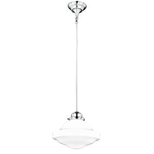 Huntley Satin Nickel 12-Inch 1-Light Pendant