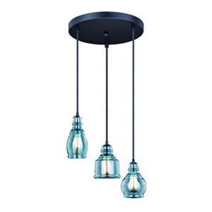 Mille Oil Rubbed Bronze 17.5-Inch 3-Light Multiple Pendants