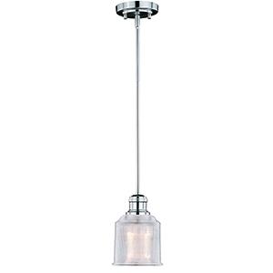 Dayton Satin Nickel One-Light Mini Pendant