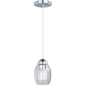 Isley Satin Nickel One-Light Mini Pendant