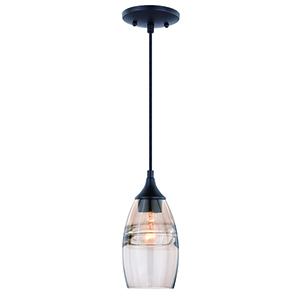 Milano Oil Rubbed Bronze Five-Inch One-Light Mini Pendant