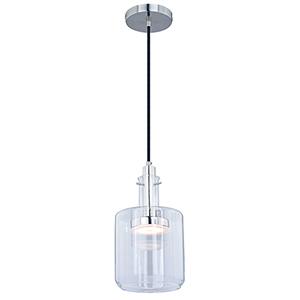 Bunsen Satin Nickel LED Square Mini Pendant