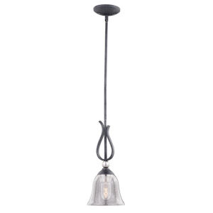 Seville Textured Graphite And Textured Graphite One-Light Mini Adjustable Pendant