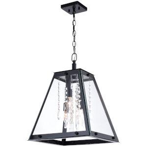 Tremont Matte Black Four-Light Pendant
