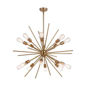 Estelle Natural Brass 16-Light Pendant