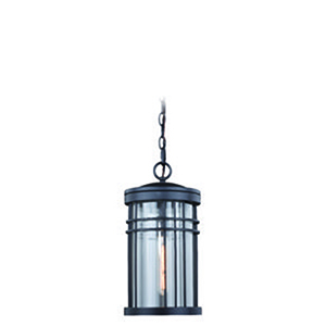 Wrightwood Vintage Black 8-Inch 1-Light Outdoor Pendant