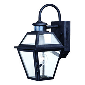 Nottingham Textured Black 7-Inch One-Light Outdoor Motion Sensor