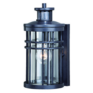 Wrightwood Vintage Black 6-Inch One-Light Outdoor Motion Sensor