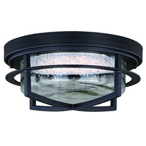 Logan Carbon Bronze 13-Inch LED Outdoor Flush Mount