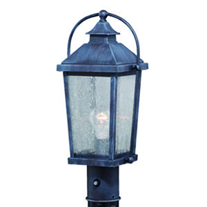 Lexington Colonial Gray Eight-Inch 1-Light Outdoor Post