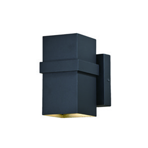 Lavage Textured Black 4-Inch LED Outdoor Wall