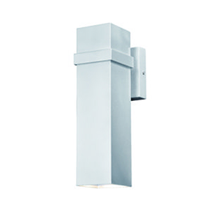 Lavage Painted Satin Nickel 4-Inch LED Outdoor Wall