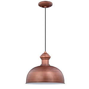Franklin Brushed Copper One-Light Outdoor Pendant