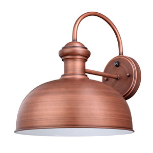 Franklin Brushed Copper One-Light Outdoor Wall Sconce