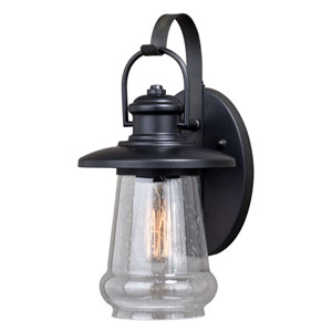 Bridgeport Oil Rubbed Bronze Eight-Inch One-Light Outdoor Wall Sconce