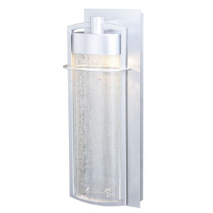 Logan Painted Satin Nickel Seven-Inch LED Outdoor Wall Sconce
