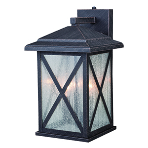 Maxwell Rust Iron Three-Light Outdoor Wall Mount