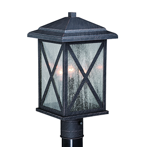 Maxwell Rust Iron One-Light Outdoor Post Mount