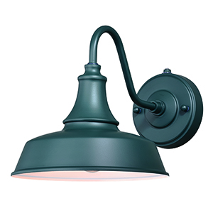 Dorado Hunter Green with Inner White One-Light Outdoor Wall Mount