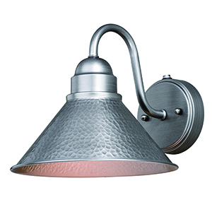 Outland Brushed Pewter One-Light Outdoor Wall Mount