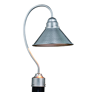 Outland Brushed Pewter One-Light Outdoor Post Mount