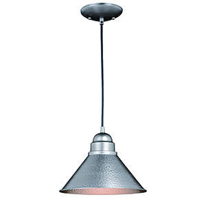 Outland Brushed Pewter One-Light Outdoor Pendant