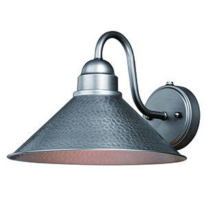 Outland Brushed Pewter Twelve-Inch One-Light Outdoor Wall Mount